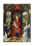Virgin and Child with Two Angels Giclee Print by Hans Memling