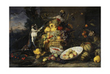 Still Life with Fruits and Monkeys Giclee Print by Frans Snyders