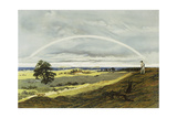 Landscape with Rainbow Giclee Print by Caspar David Friedrich