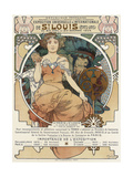 Poster for the World Fair, St, Louis, 1903 Lámina giclée por Alphonse Mucha
