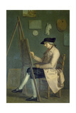 Self-Portrait at the Easel, 1785 Giclee Print by Johann Heinrich Wilhelm Tischbein