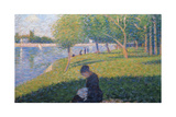 The Seamstress, Study for 'A Sunday Afternoon on the Island of La Grande Jatte', 1886 Giclee Print by Georges Seurat