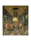 Das Letzte Abendmahl, Mitteltafel Vom Altar Der Frauenkirche in Muehlberg/Elbe Giclee Print by Heinrich Göding the Elder