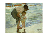 Mother and Child at the Beach, 1908 Giclee Print by Joaquin Sorolla