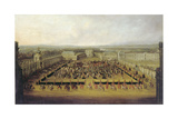 Caroussel Comique, Parade in the Zwingerhof, Dresden 1722, before 1725 Giclee Print by Johann Alexander Thiele