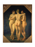 The Three Graces, 1793 Giclee Print by Jean-Baptiste Regnault