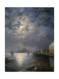 Gondola Ride in the Moonlight, Venice Giclee Print by Konstantinovich Ivan Aivazovsky