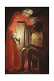 Job Mocked by His Wife Giclee Print by Georges de La Tour