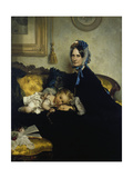 Grandmother and Grand-Daughter, 1863 Giclee Print by Julius Scholtz