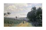 The Heights of Sevres, C. 1835-40 Giclee Print by Jean-Baptiste-Camille Corot
