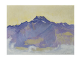 The Dents Du Midi, Viewed from Chesieres, 1912 Gicleetryck av Ferdinand Hodler