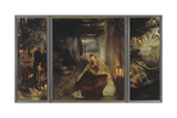 Holy Night (Triptych), 1888-89 Giclee Print by Fritz von Uhde