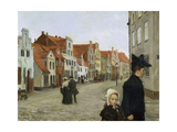 The Hartengrube in Luebeck, C. 1903 Giclee Print by Heinrich Eduard Linde-Walther