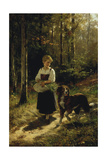 The Walk in the Forest, 1883 Giclee Print by Hubert Salentin