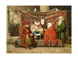 A Turkish Notary Drawing Up a Marriage Contract in Front of the Kilic Ali Pasha Mosque, 1837 Giclee Print by Martinus Roerbye