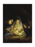Mary and the Infant Christ Giclée-tryk af Carlo Maratti