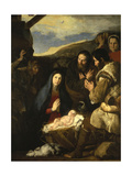 Adoration of the Shepherds, 1650 Giclee Print by Jusepe de Ribera