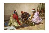The Backgammon Players Giclee Print by Giulio Rosati