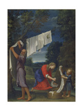 The Holy Family Washing Clothes Giclee Print by Lucio Massari