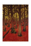 The Forest with Red Earth, C. 1891 Giclée-Druck von Georges Lacombe