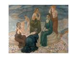 Women on the Beach, 1908 Giclee Print by Kosjma Ssergej Petroff-Wodkin