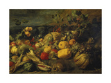 Still Life of Fruits and Vegetables, 1620s Giclee Print by Frans Snyders
