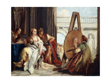 Alexander and Campaspe in the Studio of Apelles Print by Giovanni Battista Tiepolo