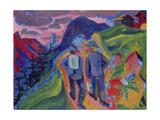 Ernst Ludwig Kirchner - Alpine Path after a Thunderstorm, 1923-1924 Digitálně vytištěná reprodukce