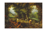 Paradise on Earth Giclee Print by Jan Brueghel the Elder