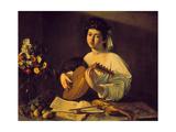 Young Lute Player, C. 1595 Gicléedruk van  Caravaggio