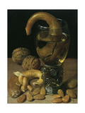 Still-Life with Wine Glass, Pretzel, Nuts and Almonds, 1637 Giclee Print by Georg Flegel