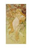 "Spring (From the Series ""Seasons""), 1896 Giclee Print by Alphonse Mucha"