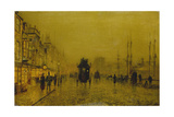Evening at the Docks of Glasgow Giclee Print by John Atkinson Grimshaw
