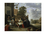 Family During an Outdoor Meal Prints by Jan Steen