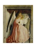 The Angel of the Annunciation (Exterior of the Heilsspiegel Altarpiece), C. 1435 Giclee Print by Konrad Witz