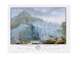At the Rim of the Grindelwald Glacier Giclee Print by Caspar Wolf