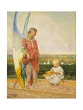 An Angel with a Shepherd Boy, 1903 Giclee Print by Jacek Malczewski