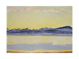 Mont Blanc with Red Clouds, 1918 Gicleetryck av Ferdinand Hodler