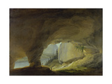 View from the Beatus Cave onto the Thuner Lake Giclee Print by Caspar Wolf