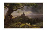 The Ruin of Kamaik in Bohemia in Thunderstorm, Ca, 1852 Giclee Print by Ernst Ferdinand Oehme