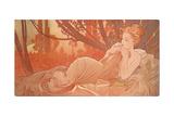 Dusk (Crepuscule), 1899 Giclée-tryk af Alphonse Mucha
