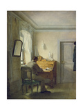 Man Sitting at His Desk Giclee Print by Georg Friedrich Kersting