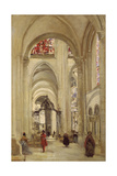 Interior of the Cathedral of Sens Giclee Print by Jean-Baptiste-Camille Corot