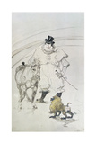 At the Circus: Trained Pony and Baboon, 1899 Giclee Print by Henri de Toulouse-Lautrec