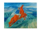 Phantasy (Equestrian), 1925 Giclee Print by Kosjma Ssergej Petroff-Wodkin