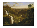 The Waterfalls at Tivoli, Um 1809 Giclée-Druck von Johann Martin Von Rohden