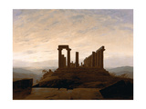The Temple of Juno, Agrigent, C. 1830 Gicléedruk van Caspar David Friedrich