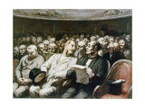 At the Theatre Giclee Print by Honoré Daumier