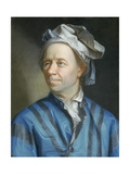 Portrait of the Mathematician Leonhard Euler Gicléetryck av Emanuel Handmann