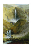 The Geltenschuss Waterfall in the Lauenen Valley, 1777 Giclee Print by Caspar Wolf